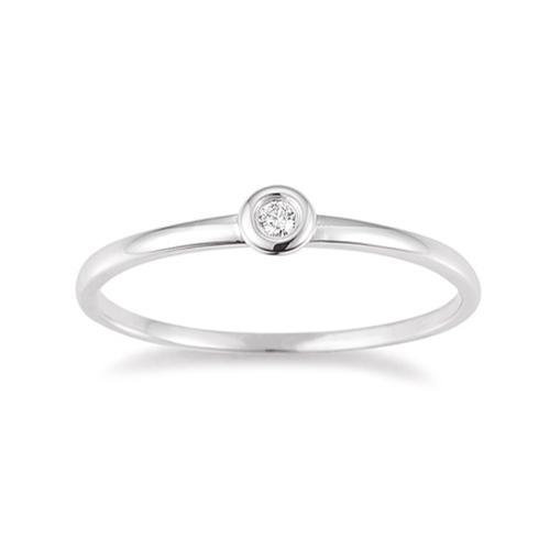 Palido First Love Ring Weißgold Brillant Zargenfassung K10485W