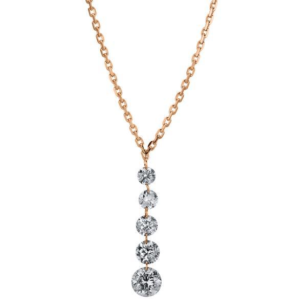 DiamondGroup Diamantcollier Collier 18 kt Rotgold - 4A357R8-1