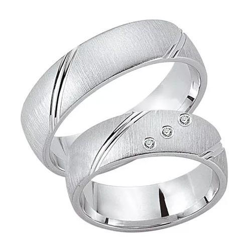 Schwarz Trauringe / Partnerringe Silber 925 Zirkonia SW925-091