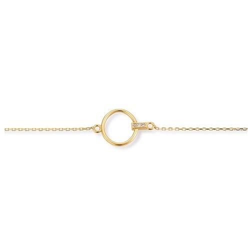 Armband Gelbgold 585 Zirkonia Palido K11883G