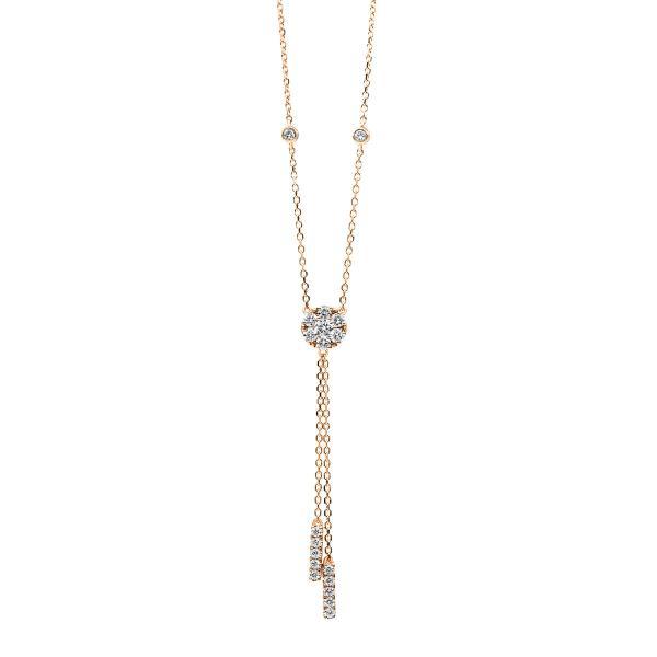 DiamondGroup Diamantcollier Collier 18 kt Rotgold - 4B149R8-1