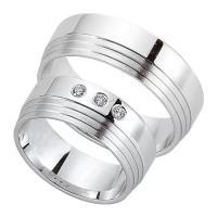 Schwarz Trauringe Partnerringe Silber 925 Zirkonia SW925-098