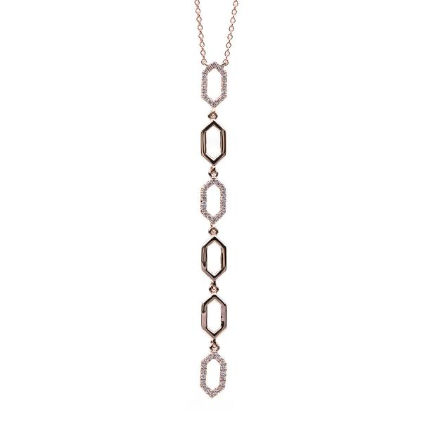 DiamondGroup Diamantcollier Collier 14 kt Rotgold - 4B454R4-1