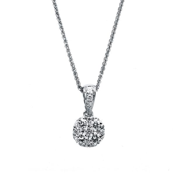DiamondGroup Diamantcollier Collier 14 kt Weißgold - 4A713W4-1
