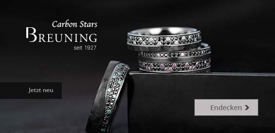 Breuning Carbon Stars - Ehering aus Carbon und Graugold