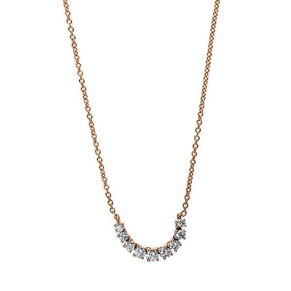 DiamondGroup Diamantcollier Collier 18 kt Rotgold - 4E506R8-1