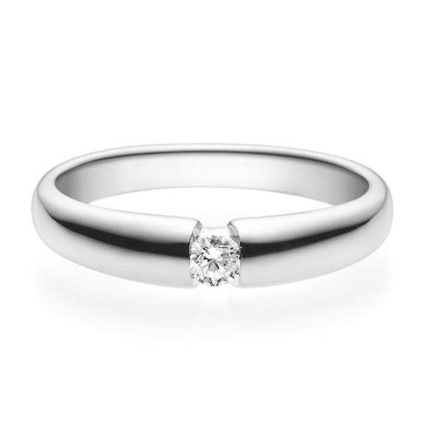 Rubin Verlobungsring 18006 Silber 925 Solitär Ring 0.100 ct.