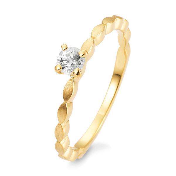 Breuning Verlobungsring Safir Weiß Gelbgold 585 42/03331