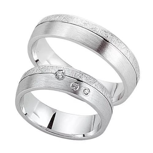 Schwarz Trauringe / Partnerringe 925-109D & 925-109H aus Silber 925