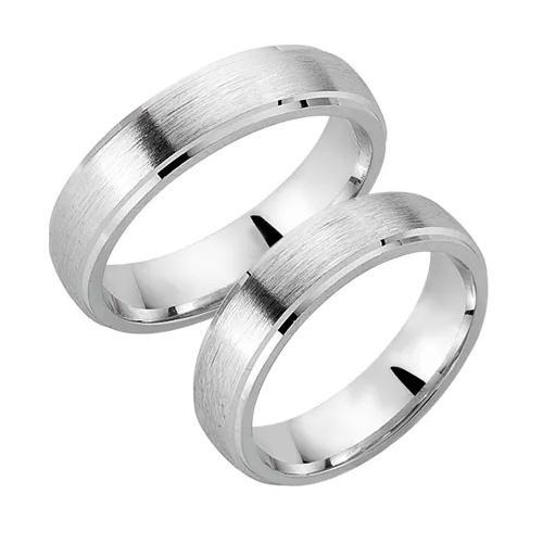 Schwarz Trauringe / Partnerringe Silber 925 SW925-009