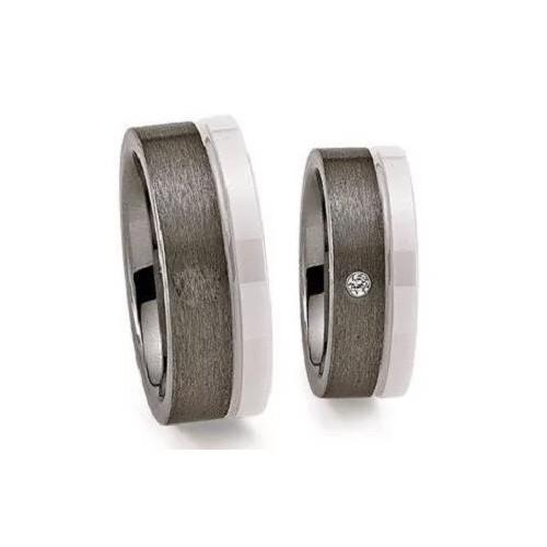 Schwarz Trauringe Tungsten Wolfram Keramik 20039