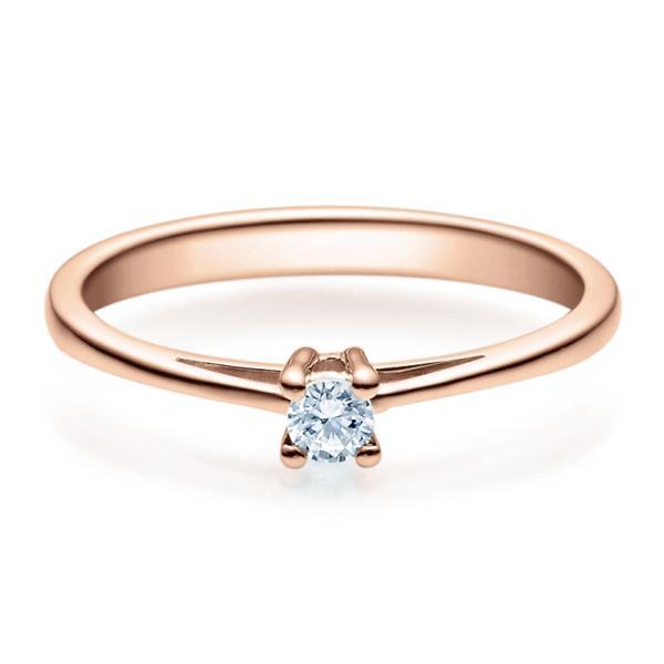 Rubin Verlobungsring 18010 Rotgold Solitär Ring 0,100 ct.