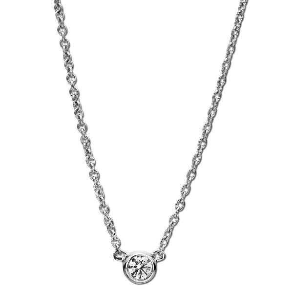 DiamondGroup Diamantcollier Collier Zarge 14 kt Weißgold - 4A005W4-6