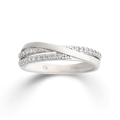 Ring Weißgold 585 Zirkonia Palido K11713W