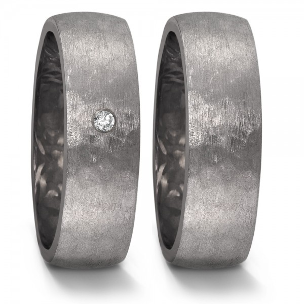 TeNo Partnerringe Tantal Carbon Brillant - 52566