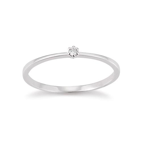 Palido First Love Ring Weißgold Brillant Krappenfassung K10488W
