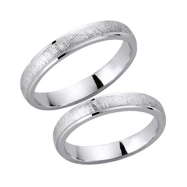 Schwarz Trauringe / Partnerringe 925-001D & 925-001H aus Silber 925