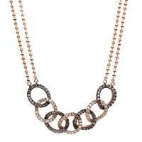 DiamondGroup Diamantcollier Collier 18 kt Rotgold, verlängerbar auf 48 cm - 4B080R8-1