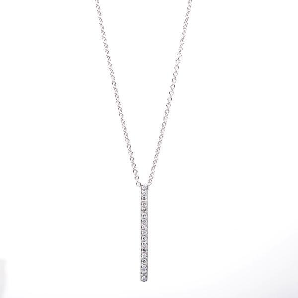 DiamondGroup Diamantcollier Collier 14 kt Weißgold - 4B322W4-5