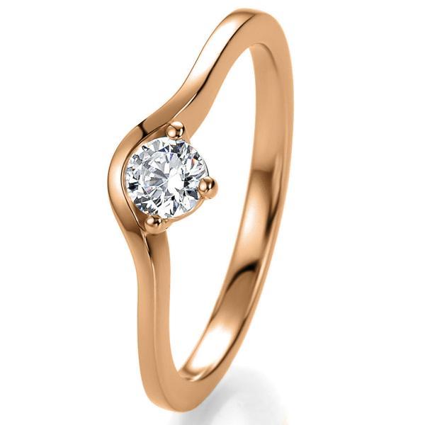 Breuning Bridal Antragsring Rotgold 41/05301