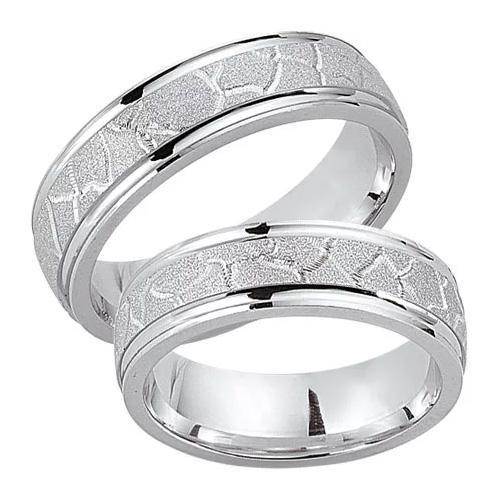 Schwarz Trauringe / Partnerringe 925-033D & 925-033H aus Silber 925