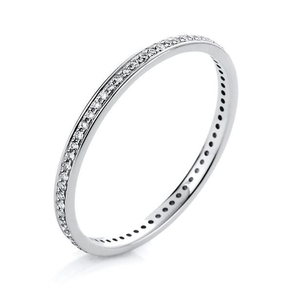 DiamondGroup Ring 14 kt Weißgold - 1A426W456-5