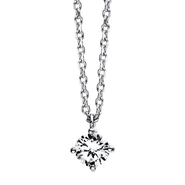 DiamondGroup Diamantcollier Collier 4er-Krappe 14 kt Weißgold - 4C776W4-1