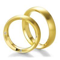 Breuning Trauringe Gelbgold Design 48/05225 & 48/05226