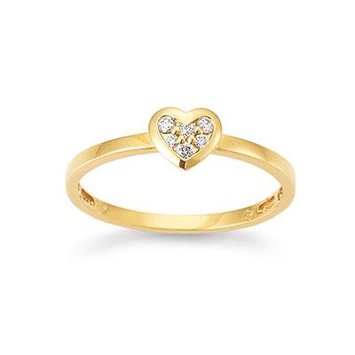 My Diary Ring Gelbgold 750 Brillant Palido S5295G