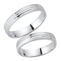 Schwarz Trauringe / Partnerringe Silber 925 SW925-051