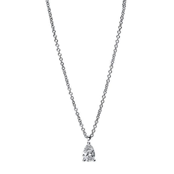 DiamondGroup Diamantcollier Collier 3er-Krappe 18 kt Weißgold - 4E466W8-2