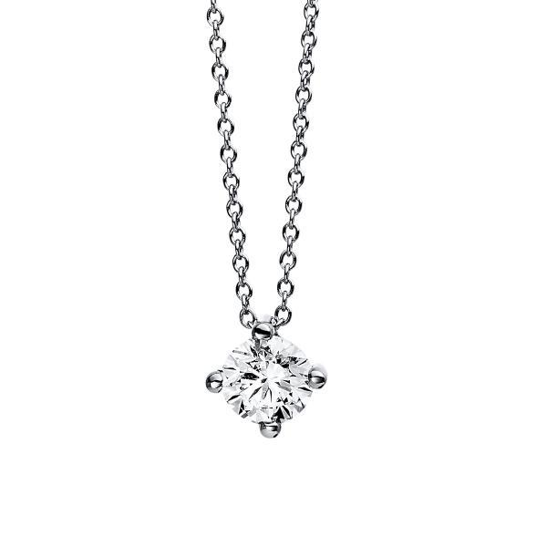 DiamondGroup Diamantcollier Collier 4er-Krappe 18 kt Weißgold - 4D555W8-1