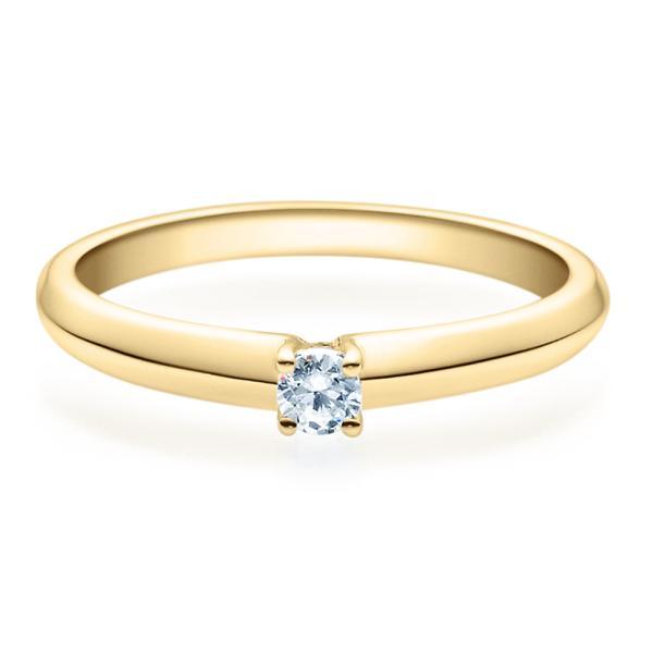 Rubin Verlobungsring Gelbgold Solitär Ring 18004