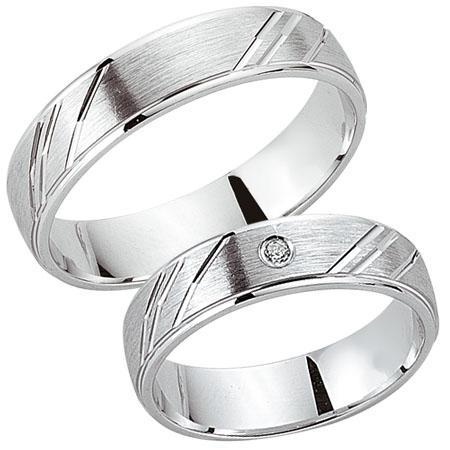 Schwarz Trauringe / Partnerringe 925-089D & 925-089H aus Silber 925