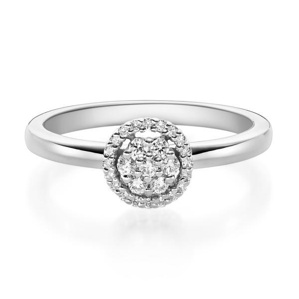 Rubin Verlobungsring 19010 Weißgold Solitär Ring 0,150 ct.