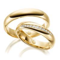 Rubin Trauringe 1527-1 Gelbgold Gold Brillant