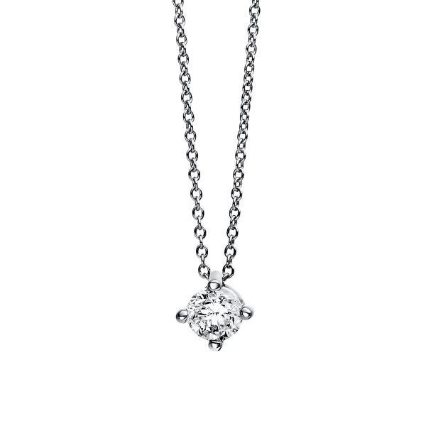 DiamondGroup Diamantcollier Collier 4er-Krappe 18 kt Weißgold - 4D336W8-1