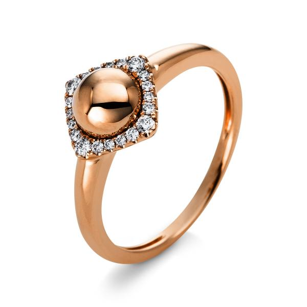 DiamondGroup Ring 14 kt Rotgold - 1Q813R454-1