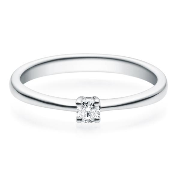 Rubin Verlobungsring 18008 Weißgold Solitär Ring 0.100 ct.