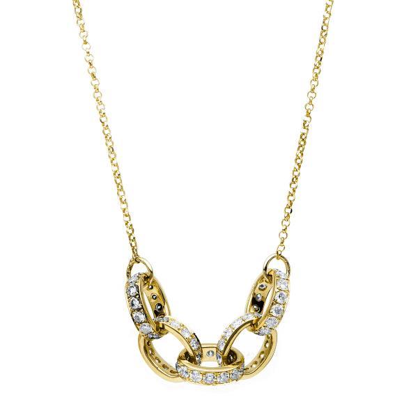 DiamondGroup Diamantcollier Collier 18 kt Gelbgold - 4C156G8-1
