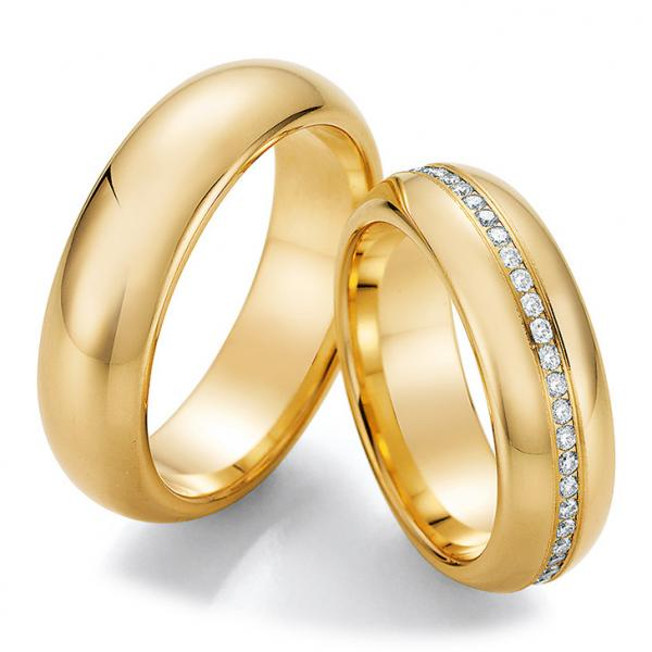 Collection Ruesch Trauringe Gelbgold La Bellezza 02/50070 & 02/50080