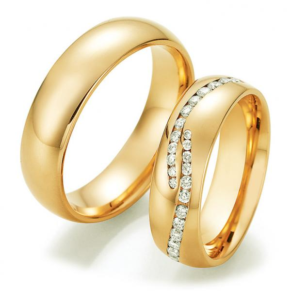 Collection Ruesch Trauringe Gelbgold La Bellezza 02/50010 & 02/50020