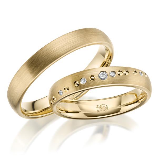 Rubin Trauringe RU-1632-1 Gelbgold Gold