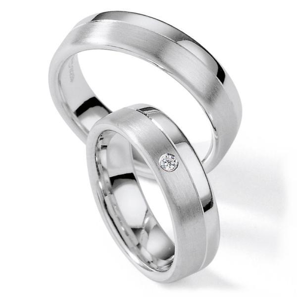 Collection Ruesch Trauringe Palladium 55/01100 White Style Silver Brilliance
