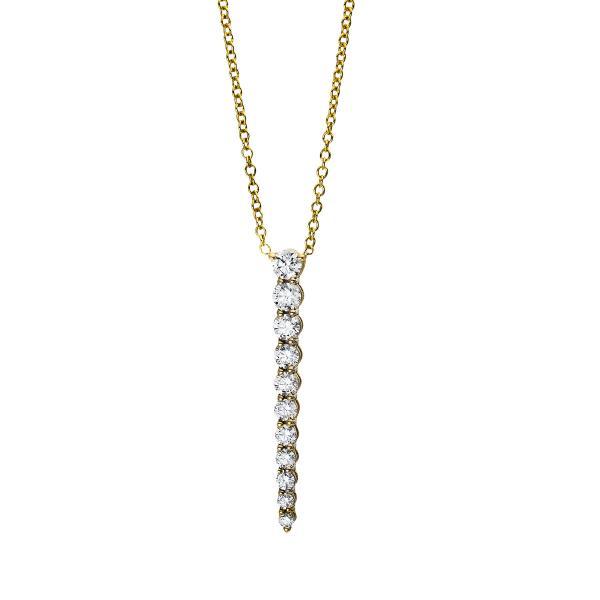 DiamondGroup Diamantcollier Collier 18 kt Gelbgold - 4E550G8-1