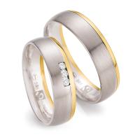 Ruesch Trauringe Weißgold 585 & Gelbgold 585 Fairtrade 33/30050 & 33/30060