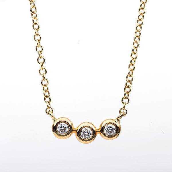 DiamondGroup Diamantcollier Collier 18 kt Gelbgold - 4B183G8-1