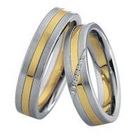 Saint Maurice Stahl-Gold-Ringe 49/88234 & 49/88235