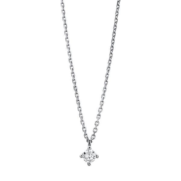 DiamondGroup Diamantcollier Collier 4er-Krappe 14 kt Weißgold - 4A309W4-7