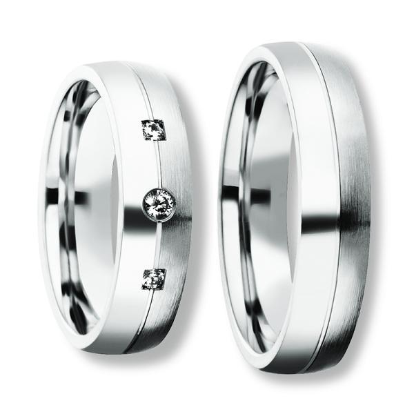 Freundschaftsringe Silber 925 Zirkonia Bedra 90051